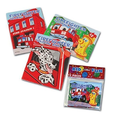 Assorted Fireman Fire Engine Mini Coloring Books (2-Pack of -