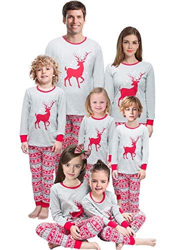 Family Matching Christmas Pajamas Mama/Little/Papa Reindeer Size 4t -