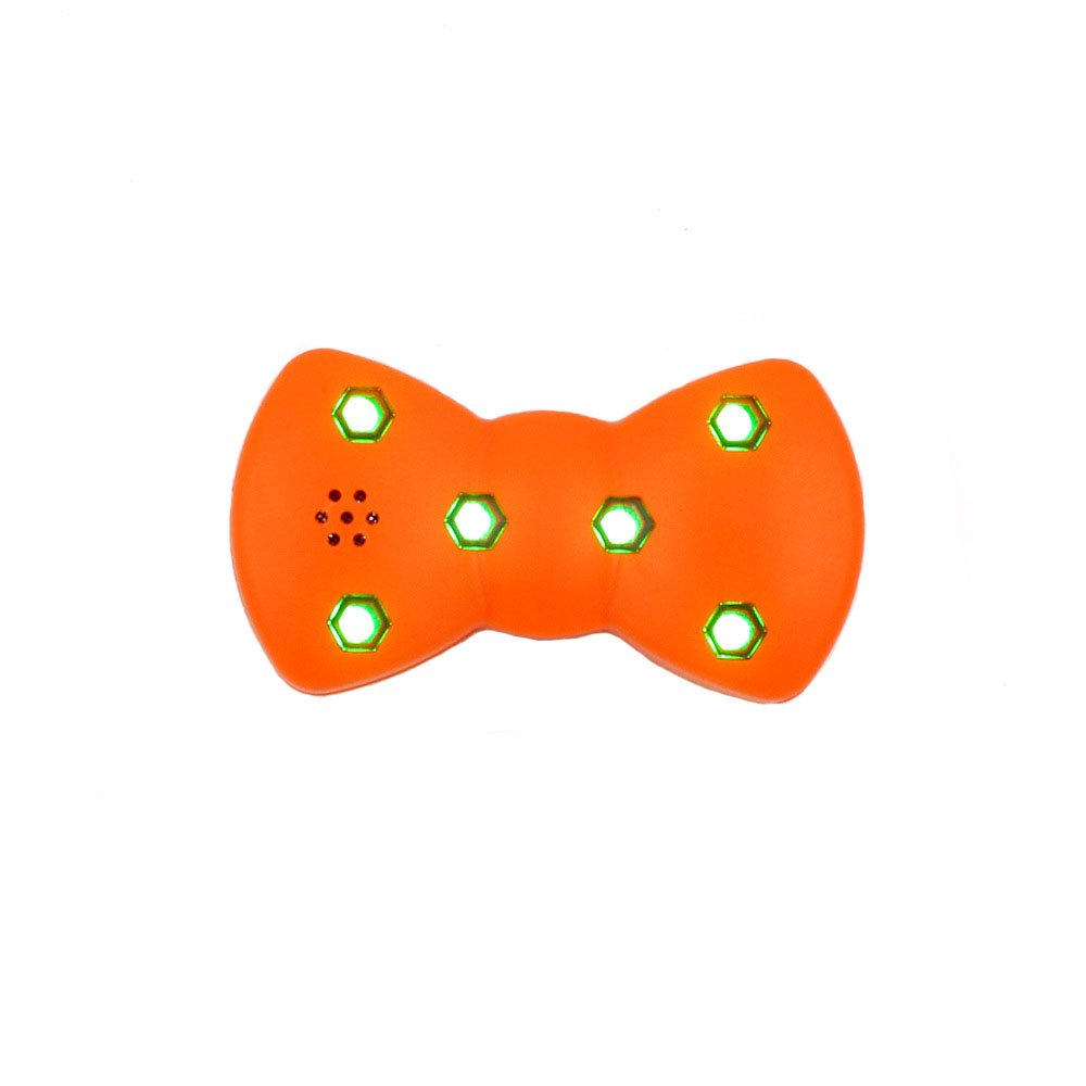 Mycandy Ultrasonic Pest Repeller - Quickly eliminates flies, cockroaches, spiders, fleas, mice, rats, and other pests,USB Charging and Shinning LED Collar for Dogs Cats (Orange)