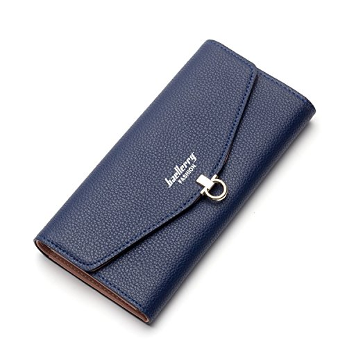 Women Wallet Long Clutch Leather Card Holder RFID Blocking Walllet Holder