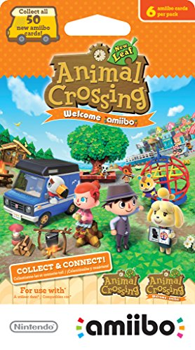 Nintendo Animal Crossing: New Leaf Welcome amiibo cards -Pack of 6 cards - Nintendo 3DS