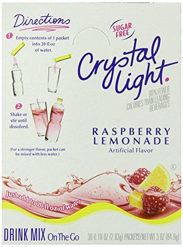 Crystal Light Single Serve Sugar-Free Raspberry Lemonade Mix, 3 oz. On The Go Packets (Pack of 120)