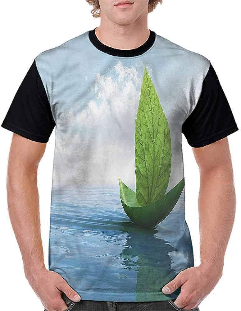 Vintage T-Shirt,Lake Sailboats Fashion Personality Customization