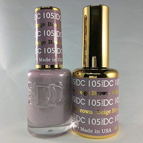 DND DC Duo Gel + Polish - 105 Beige Brown