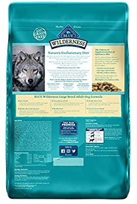 Blue Buffalo Wilderness High Protein Grain Free, Natural Adult Large Breed Dry Dog Food, Salmon 24-Lb by Blue Buffalo
