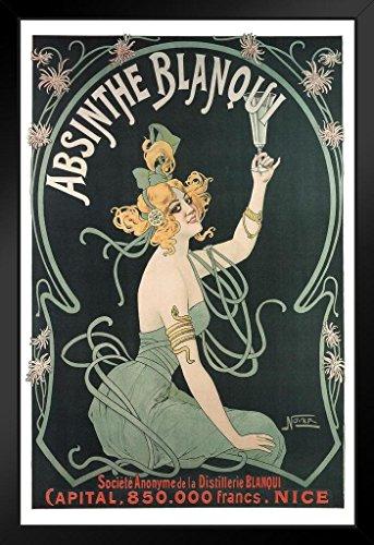 Absinthe Blanqui Art Nouveau Liquor Advertisement Art Print Framed Poster 14x20 inch