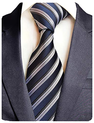 GUSLESON Brand New 8cm Striped Silk Necktie(0694-09)