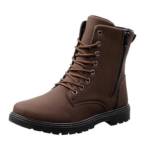 MAYOGO Martinstiefel Herren Hoch-top mit Reißverschluss,Britische Booties  Winterstiefel Schneeschuhe Wildleder Leather Boots e69164c727
