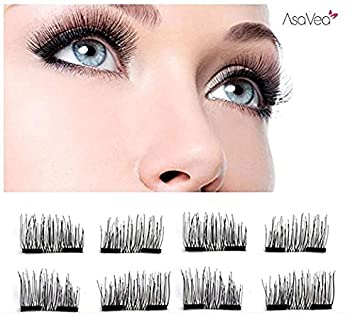 2e89f80d637 Image Unavailable. Image not available for. Color: Premium False Magnetic  Eyelashes 8 Pieces Fake Eyelashes 3D Reusable 0.2mm Ultra Thin Magnetic  Eyelashes