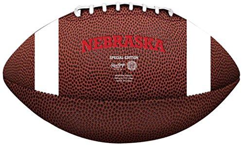NCAA Game Time Full Size Football , Nebraska Cornhuskers, Brown, Full Size