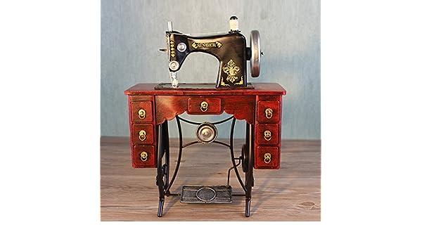 YYY-Adornos de hierro forjado hecho a mano antigua máquina de coser modelo retro accesorios de fotografía decorativa de tienda de ropa , 35x15x45: ...