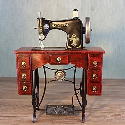 YYY-Adornos de hierro forjado hecho a mano antigua máquina de coser modelo retro accesorios