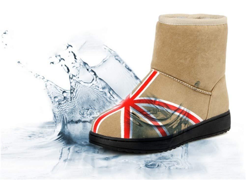 MHCDXGN Ladies Snow Stiefel Lässige Herbst Und Winter Winter Winter Dicke Baumwolle Schuhe Flache Mode Stiefel 6cf82f