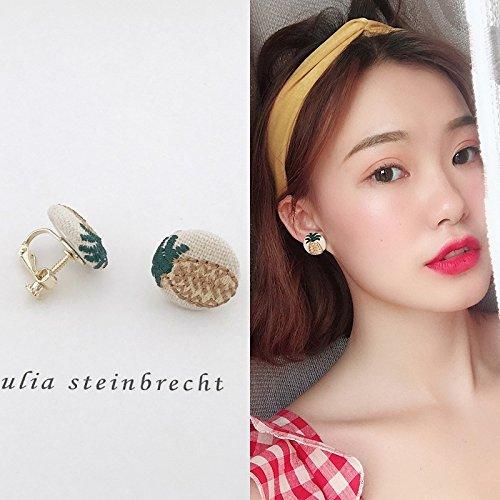 Price comparison product image HJPRT korea three-color pu mixing geometric square design exquisite fashion color mosaic earrings earings dangler eardrop earrings women girls 898 (r1004 ear clip