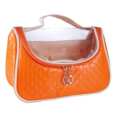 [Hatop European Style Portable Multifunction Saddle Cosmetic Bag (Orange)] (Replica Makeup)