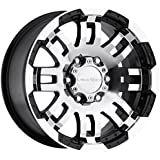 "Vision Warrior 375 Gloss Black Machined Face Wheel (16x8""/6x139.7mm)"