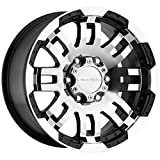 Vision Warrior 375 Gloss Black Machined Face Wheel (17x8.5''/6x135mm)