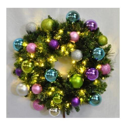 Christmas at Winterland WL-GWSQ-06-VIC-LWW 6 Foot Pre-Lit Warm White Sequoia Wre, Warm White -