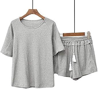 Conjuntos de algodón para Mujer Pijamas de Manga Corta + ...