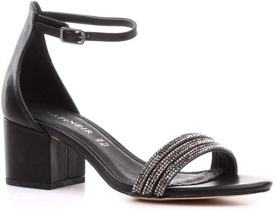 Cafè Noir CAF Noir EB231 Chaussures Noires Femme Lacets en