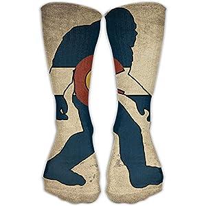 Men's Women's Colorado Flag Ape Vintage Fashion High Socks Athletic Tube Long Stockings Classic Sports Outdoor