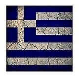 Greece Flag Crackled Design Tile Trivet