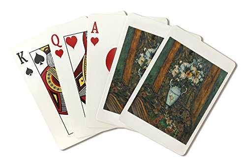 (Vase of Flowers - Masterpiece Classic - Artist: Paul Cezanne c. 1900 (Playing Card Deck - 52 Card Poker Size with Jokers) )