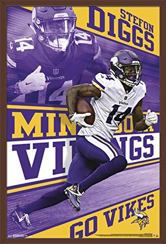 Trends International NFL Minnesota Vikings - Stefon Diggs Wall Poster, 24.25