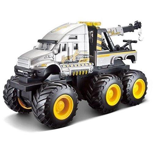 Maisto Fresh Metal Builder Zone Quarry Monsters Gray Tow Truck