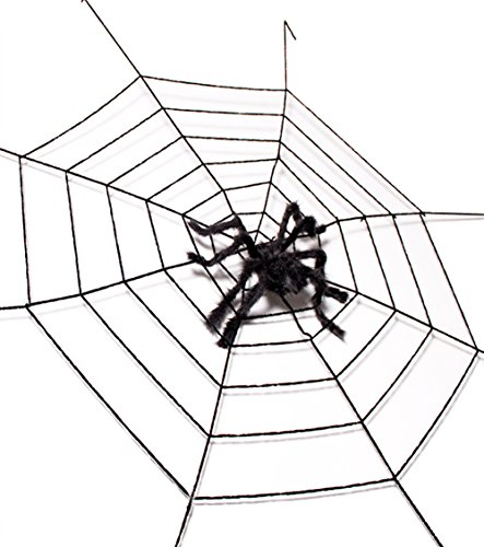 IVANFCH Halloween Party 10.5FT Spider Web and Giant Spider (50 inch) Terrify Outdoor Indoor Decoration (Black) for $<!--$20.99-->