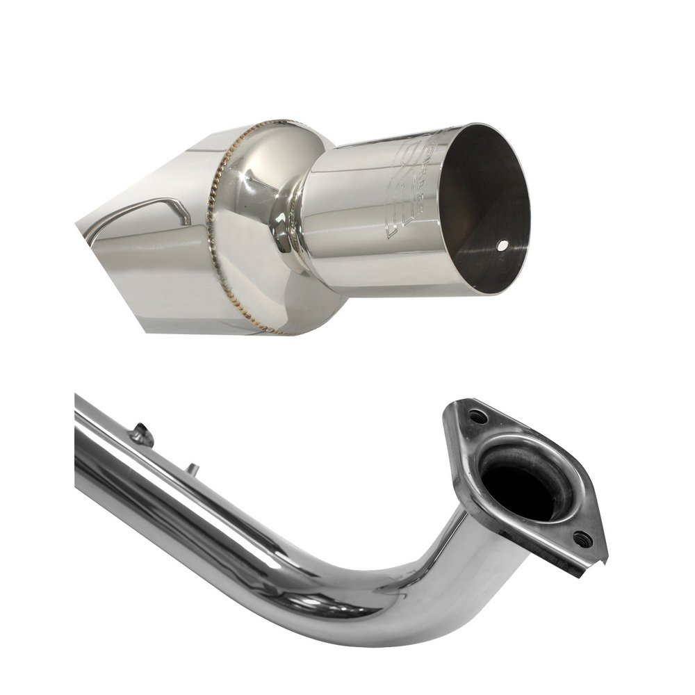 DC Sports SCS7043 Polished Stainless Steel Single Canister Axle-Back Exhaust System