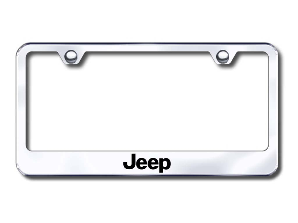 Auto Gold LFJEEEC Jeep Engraved Chr Frame