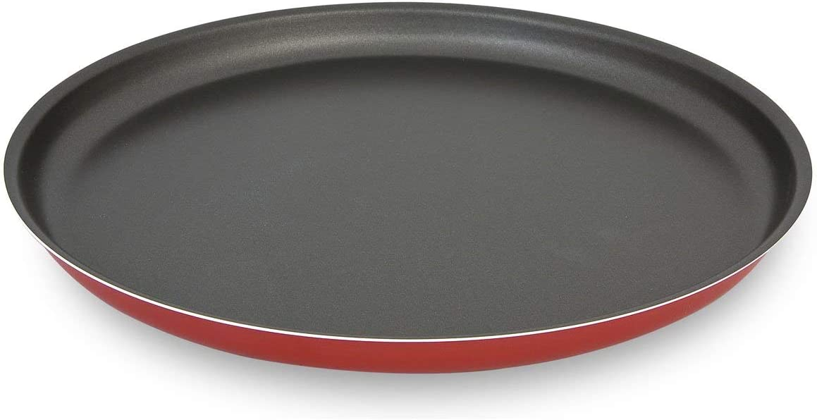 1 Piece Set Red Menax Pizza Pan Baking Tray Non Stick Pizza Pan Made in Italy