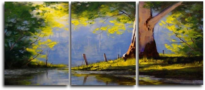 YANGDINGYAO Cuadro en Lienzo Arte Abstracto de la Pared Bosque Carteles e Impresiones Decoración nórdica del Dormitorio del hogar Imagen