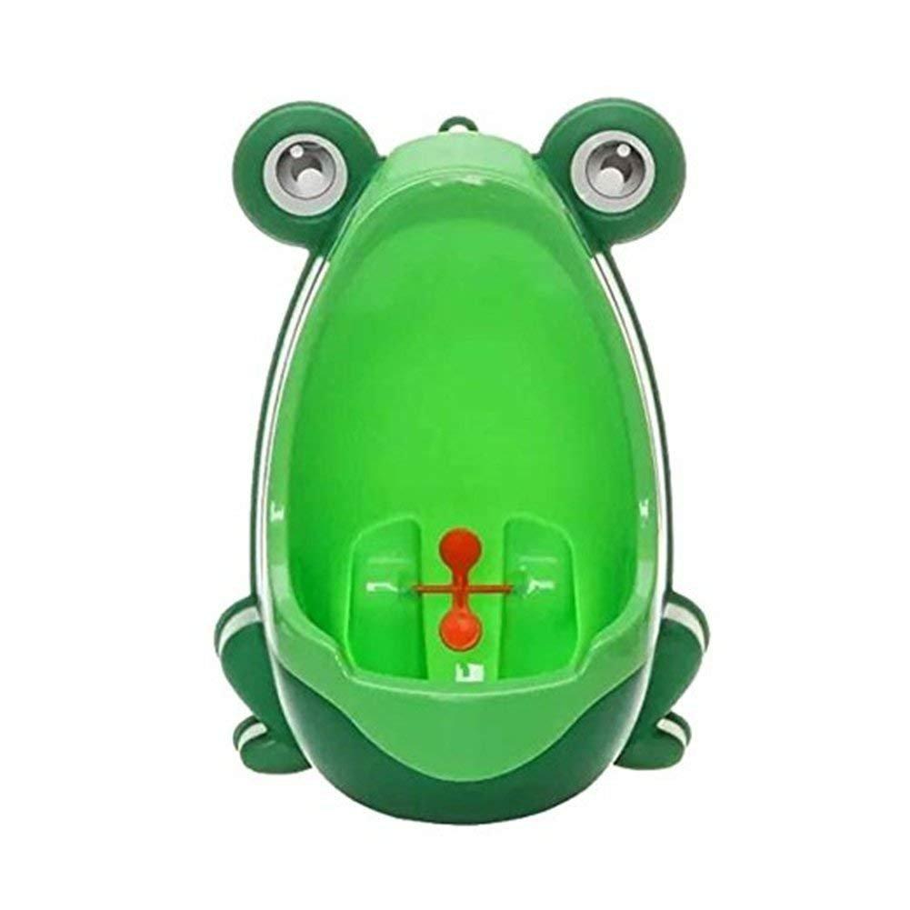 TuDu Urinoir pour bébé - En forme de grenouille - Parfait pour aider les mamans qui apprennent à leur enfant à aller aux toilettes - Pour salle de bain - Vert
