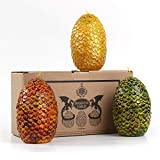 Toys : Game of Thrones Dragon Eggs Candles - Set of 3 - GOT Mother of Dragons Egg Decor Christmas Holidays Gifts for Women Gift for Her Mom