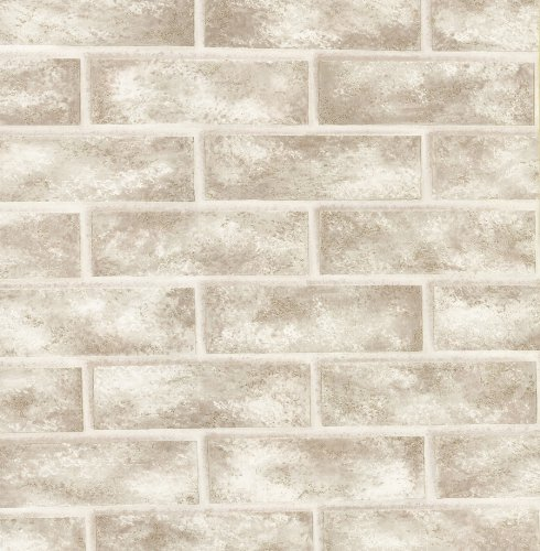 Brewster 412-56947 20.5-Inch by 396-Inch Bricks - Textured Depth Wallpaper, -