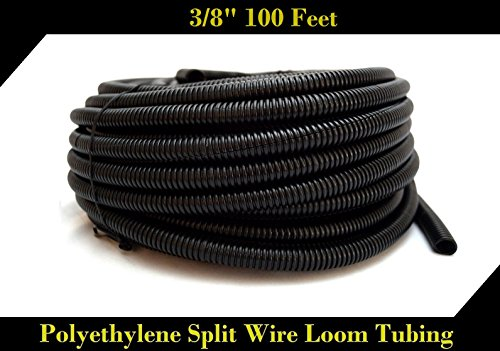 Wire Loom Black 100' Feet 3/8