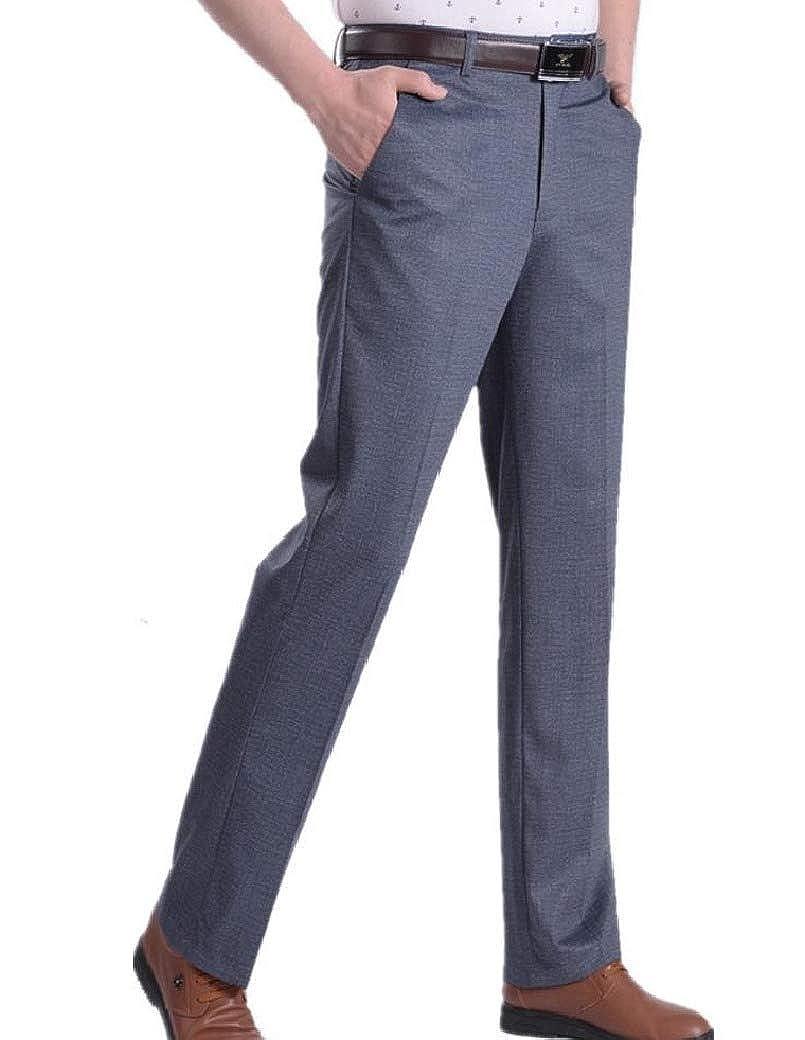 Coolred-Men High Waist Thin Fashion Fashion Summer Plain Front Pant