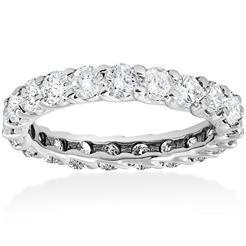 3ct Trellis Diamond Eternity Ring 14K White Gold by Pompeii3 Inc.
