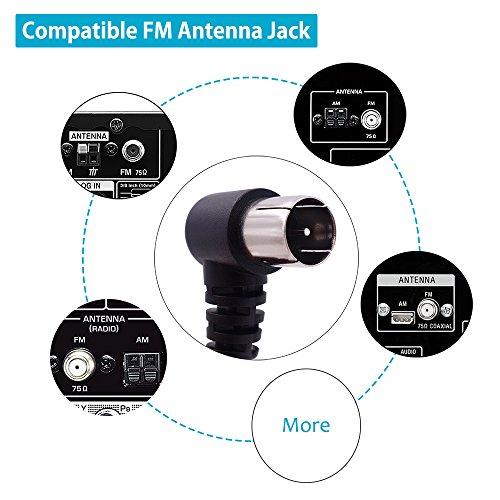 fm antenna 75 ohm f type male plug coax cable wire home. Black Bedroom Furniture Sets. Home Design Ideas