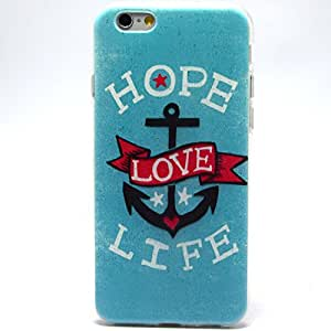 Full Colorful Pattern Thin Soft TPU Protective Case Cover for Apple iphone 6 plus 5.5inch,Hope Life