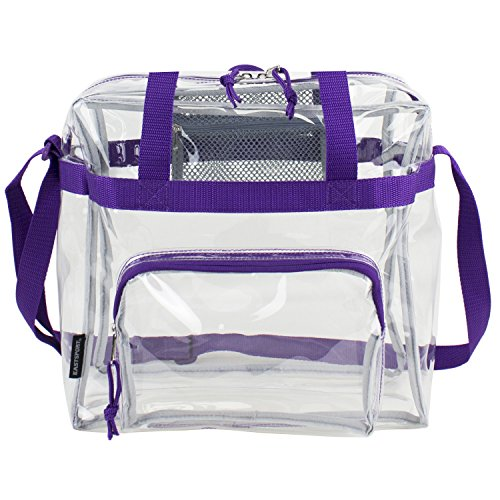 (Eastsport Clear NFL Stadium Approved Tote, Purple)