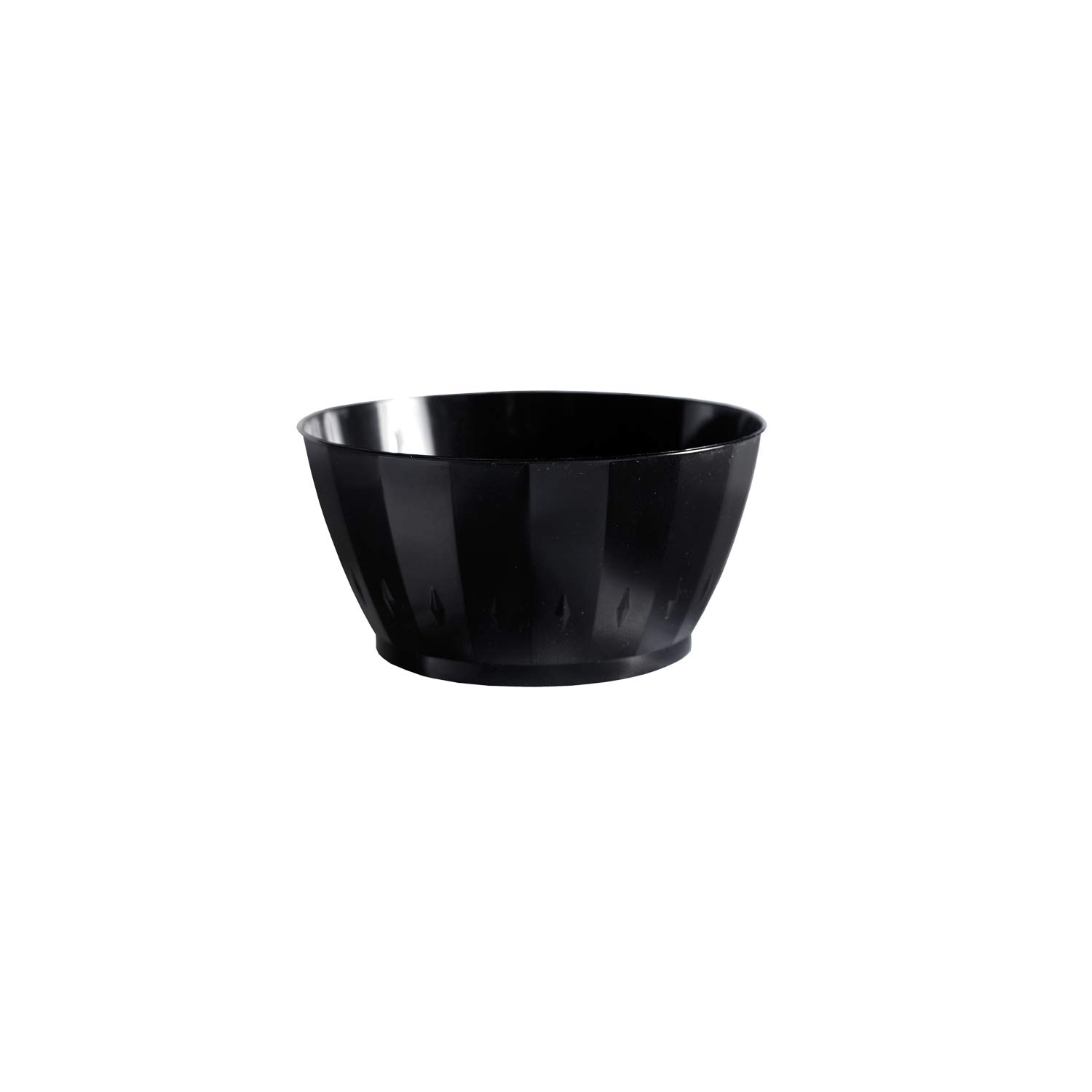 Cheap mail order shopping Party Essentials Plastic Bowl 6-Ounce Black Choice Case Capacity of