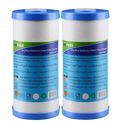 Icepure Big Blue Sediment  and  Activated Carbon Water Filter Compatible with FXHTC,GXWH40L,GXWH35F,GNWH38S ()