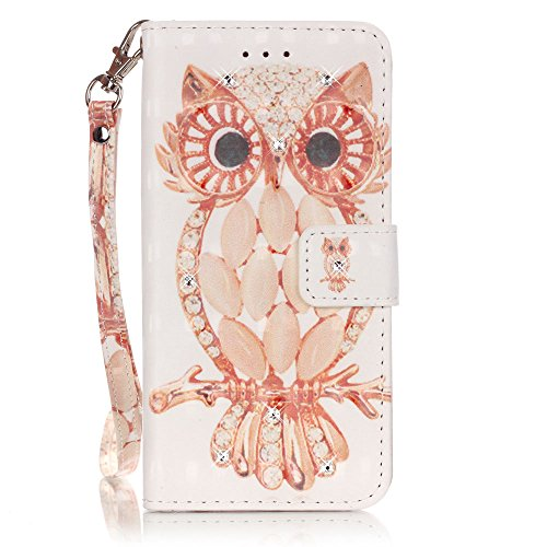 iPhone 6 Case, Wallet Card Holder with Kickstand Slim Leather Cover for iPhone 6[with Free Tempered Glass Screen Protector] color five
