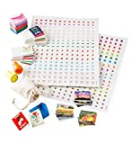 HearthSong® Itsy Bitsy Personalized Postcard and Letter Writing Kit for Kids, Includes Stamps, Seals, 72 Mini Cards, 36 Mini Postcards, Envelopes, Stickers, Mini Cotton Drawstring Mail Bag
