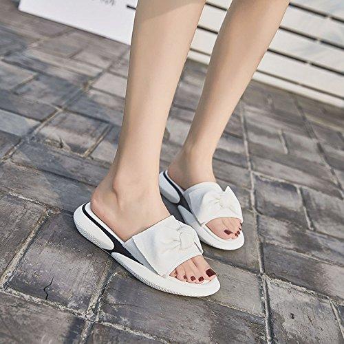 Mode Porter Belles Sandales Plage Femme White De 39 Pantoufle 36 Coréenne Guang black Nouvelle Dames Été Xing RSv8nXwpqS