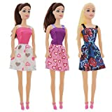 "American Fashion Dolls, 11"". Set of 6 with different clothes. Introduce them to your Barbie collection. Great favors for Birthday Party gifts"
