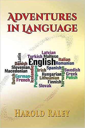 Adventures in Language: Harold Raley: 9781590955321: Amazon com: Books
